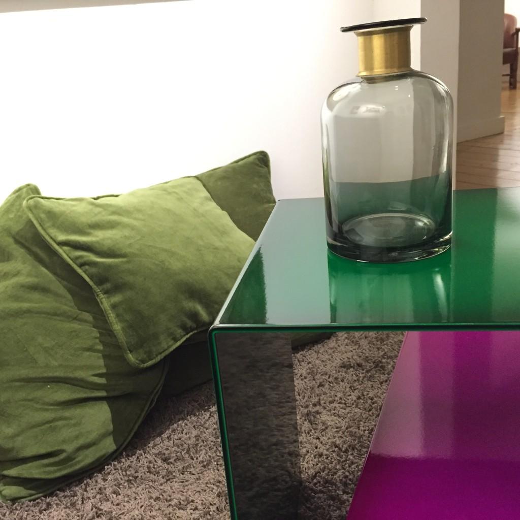 Tisch Lasur grün Detail1
